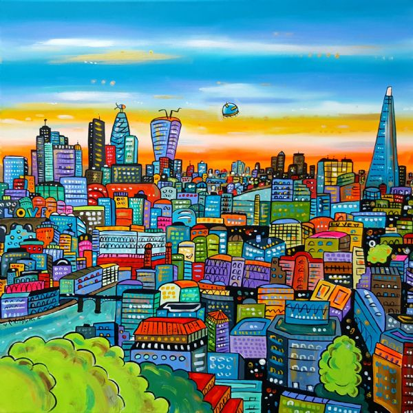 Funky Vibrant London (sold on Artfinder)